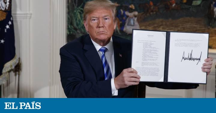ترامپ توافق هسته ای با ایران را نقض کرده و تحریم ها را بازیابی می کند  ما